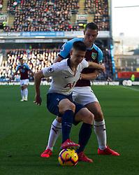 Juan Foyth of Tottenham Hotspur (L) and Chris Wood of Burnley in action - Mandatory by-line: Jack Phillips/JMP - 23/02/2019 - FOOTBALL - Turf Moor - Burnley, England - Burnley v Tottenham Hotspur - English Premier League