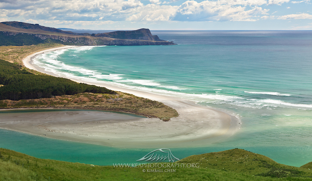 Victory Beach along the Wickliffe Bay, Otago Peninsula