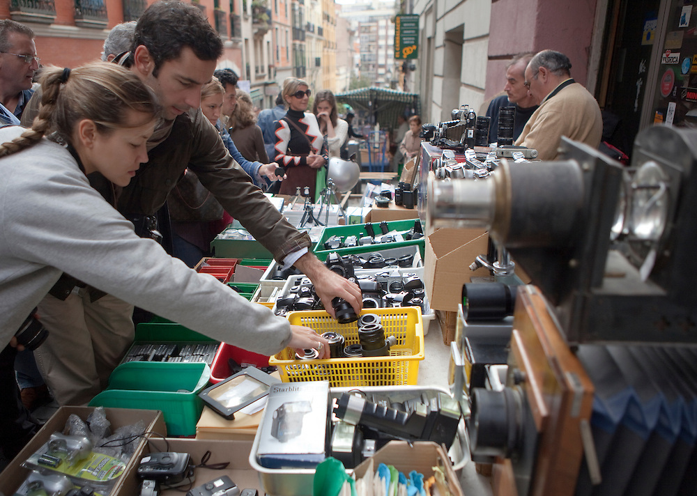 El Rastro, Madrid's traditional antiques and flea market.