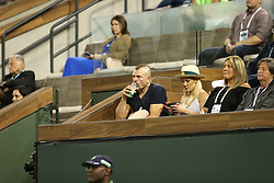 March 12, 2018 - Indian Wells, California, United States Of America - INDIAN WELLS, CA - MARCH 12: Venus Williams and Serena Williams at their match against each other during the BNP Paribas Open at the Indian Wells Tennis Garden on March 12, 2018 in Indian Wells, California...People:  Chuck Liddell, Heidi Northcott. (Credit Image: © SMG via ZUMA Wire)