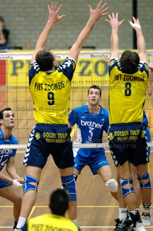 01-02-2006 VOLLEYBAL: PIET ZOOMERS D - BROTHER MARTINUS: APELDOORN <br /> Piet Zoomers wint met 3-0 van Martinus in de kwartfinale beker / Joost Joosten<br /> &copy;2006-WWW.FOTOHOOGENDOORN.NL