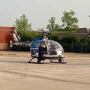 NLD/Huizen/20060512 - Opening vernieuwd KNRM reddingsstation Huizen Energieweg 1, politie helicopter