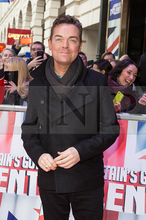 "© Licensed to London News Pictures. 22/01/2016. London, UK. Stephen Mulhern arrives at The Dominion Theatre in London for the ""Britain's Got Talent"" auditions. Photo credit : Vickie Flores/LNP"