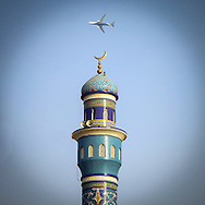 Muscat, Oman Airlines, Mosque