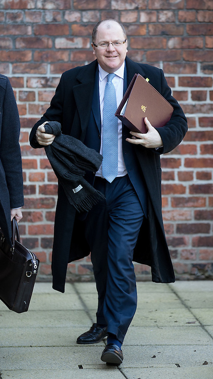 "© Licensed to London News Pictures . 07/03/2016 . Manchester , UK . The Minister for Life Sciences , GEORGE FREEMAN MP , arrives for a meeting at Vaughan House at the University of Manchester , today (7th March 2016) . The venue hosts the "" Health eResearch Centre "" of the National Farr Institute for Health Informatics Research , a hub which uses data for digital and health research . Photo credit : Joel Goodman/LNP"