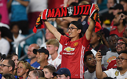 Manchester United fans celebrate a goal against Real Madrid during International Champions Cup action at Hard Rock Stadium in Miami Gardens, FL, USA on Tuesday, July 31, 2018. Manchester United won, 2-1. Photo by Jim Rassol/Sun Sentinel/TNS/ABACAPRESS.COM