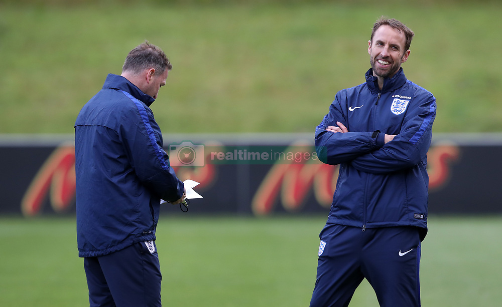 England manager Gareth Southgate during the training session at St George's Park, Burton.