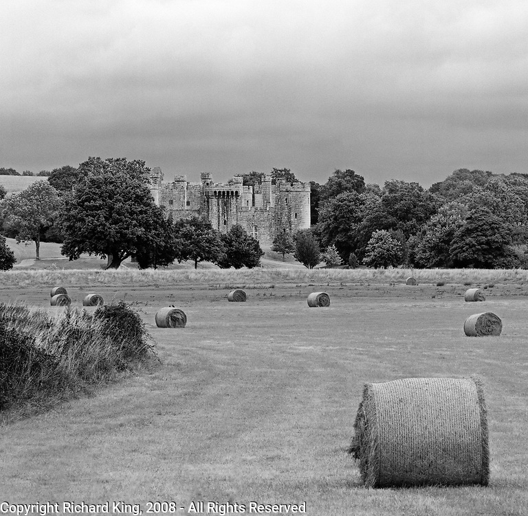 Approaching Bodium Castle, East Sussex, England