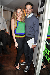 CEDRIC NOTZ and MARGHERITA PURI NEGRI at a party to celebrate the launch of Jax Coco - a new soft drink, held at Harvey Nichols 5th Floor Bar, 109-125 Knightsbridge, London on 25th June 2012.