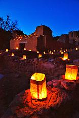 Jemez State Monument Christmas Faralitos 2012 - photos