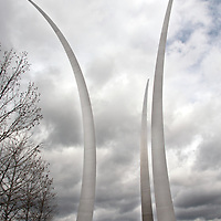 The Air Force Memorial in Arlington, VA.