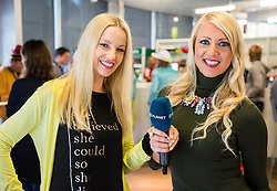 Taya Damjan and Milena Novak of Planet T&V during official presentation of the outfits of the Slovenian Ski Teams before new season 2016/17, on October 18, 2016 in Planica, Slovenia. Photo by Vid Ponikvar / Sportida