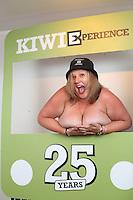 kiwi experience adventure travel hop on hop backpacker bus new zealand celebrating 25 years with travel agents and accommodation and activity operators at  waiheke island