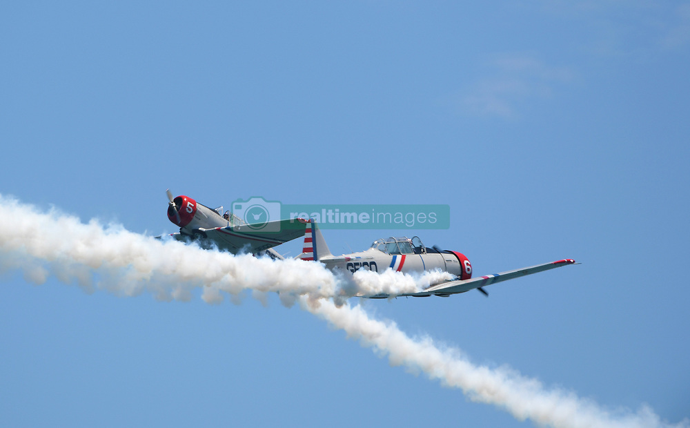 FORT LAUDERDALE, FL - MAY 04: GEICO Skytypers performs in the Fort Lauderdale Air Show on May 4, 2019 in Fort Lauderdale, Florida...People:  GEICO Skytypers. (Credit Image: © SMG via ZUMA Wire)