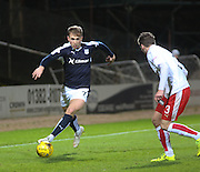 Dundee&rsquo;s Greg Stewart goes past Falkirk&rsquo;s Luke Leahy  - Dundee v Falkirk, William Hill Scottish Cup Fourth Round at Dens Park <br /> <br />  - &copy; David Young - www.davidyoungphoto.co.uk - email: davidyoungphoto@gmail.com