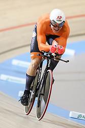 March 4, 2018 - Apeldoorn, Netherlands - Jeffrey Hoogland (NED) - Men's 1km time trial .during UCI Track Cycling World Championships Apeldoorn 2018, in Apeldoorn, Netherlands, on March 4, 2018. (Credit Image: © Foto Olimpik/NurPhoto via ZUMA Press)