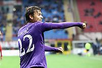 """Esultanza Adam Ljajic Fiorentina<br /> Goal celebration<br /> Milano 10/11/2012 Stadio """"San Siro""""<br /> Football Calcio Serie A 2012/13<br /> Milan v Fiorentina<br /> Foto Insidefoto Paolo Nucci"""