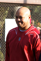 Nov 12, 2011; Stanford CA, USA;  Stanford Cardinal head coach David Shaw enters the stadium before the game against the Oregon Ducks at Stanford Stadium.  Mandatory Credit: Jason O. Watson-US PRESSWIRE