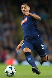 17th October 2017 - UEFA Champions League - Group F - Manchester City v Napoli - Faouzi Ghoulam of Napoli - Photo: Simon Stacpoole / Offside.