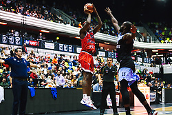 Fred Thomas of Bristol Flyers in action as Bristol Flyers play Surrey Sharks for the second time - Rogan/JMP - 14/10/2018 - BASKETBALL - Copper Box Arena - London, England - British Basketball All-Stars Championship 2018.