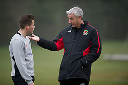 CARDIFF, WALES - Thursday, March 15, 2012: Ian Rush (Welsh Football Trust Elite Performance Director) with Ellis Bellamy during a training session at the Glamorgan Sports Park. (Pic by David Rawcliffe/Propaganda)