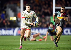 Jacob Stockdale of Ulster creates a try for team-mate John Cooney - Mandatory byline: Patrick Khachfe/JMP - 07966 386802 - 13/12/2019 - RUGBY UNION - The Twickenham Stoop - London, England - Harlequins v Ulster Rugby - Heineken Champions Cup