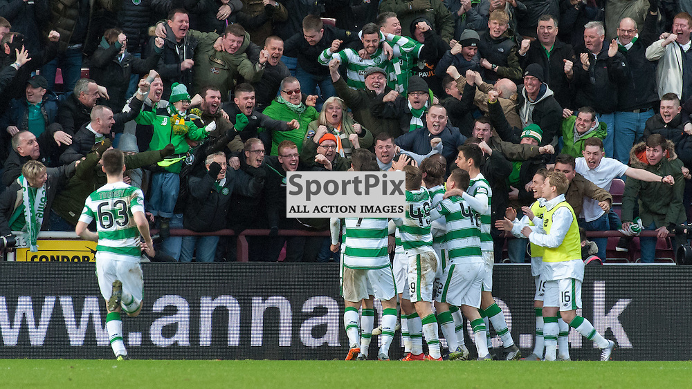 Celtic celebrations ¥ Heart of Midlothian v Celtic ¥ Ladbrokes Premiership ¥ 27 December 2015 ¥ © Russel Hutcheson | SportPix.org.uk