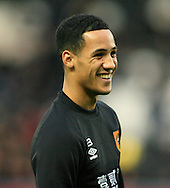Tom Ince of Hull City warming up before ko of the Barclays Premier League match at KC Stadium, Hull<br /> Picture by Richard Gould/Focus Images Ltd +44 7855 403186<br /> 01/01/2015
