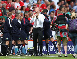 Burnley Manager Sean Dyche celebrates at the final whistle as his side win the championship - Mandatory by-line: Paul Terry/JMP - 07/05/2016 - FOOTBALL - The Valley - London, England - Charlton Athletic v Burnley - Sky Bet Championship
