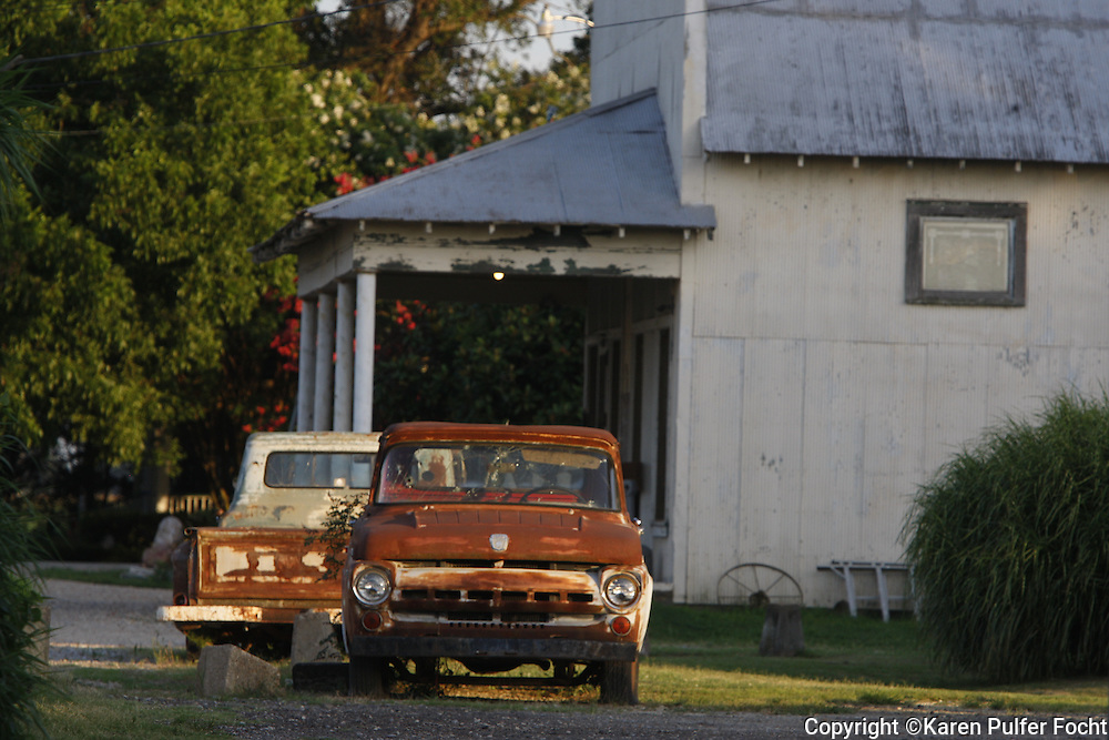 Old trucks and commissary in the Mississippi Delta.