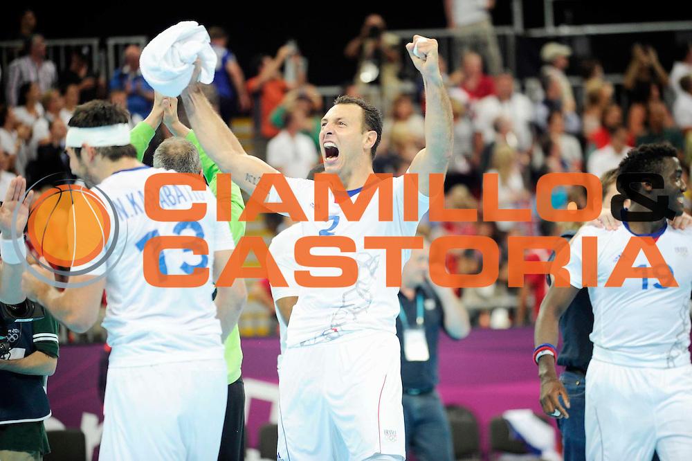DESCRIZIONE : Handball Jeux Olympiques Londres Quart de Finale<br /> GIOCATORE : Fernandez Jerome FRA<br /> SQUADRA : France Homme<br /> EVENTO : FRANCE Handball Jeux Olympiques<br /> GARA : France Espagne<br /> DATA : 08 08 2012<br /> CATEGORIA : handball Jeux Olympiques<br /> SPORT : HANDBALL<br /> AUTORE : JF Molliere <br /> Galleria : France JEUX OLYMPIQUES 2012 Action<br /> Fotonotizia : France Handball Homme Jeux Olympiques Londres Quart de Finale Basketball Arena<br /> Predefinita :