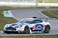 Ross Gunn (GBR) / Andrew Howard (GBR)  #1 Beechdean AMR  Aston Martin V12 Vantage GT3  Aston Martin 6.0L V12 British GT Championship at Rockingham, Corby, Northamptonshire, United Kingdom. April 30 2016. World Copyright Peter Taylor/PSP.