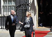 © licensed to London News Pictures. LONDON, UK  25/05/11. William Hague and Hillary Clinton leave Downing Street. Barack Obama and David Cameron meet in Downing Street during US President Obama's first State Visit to the United Kingdom. Please see special instructions. Photo credit should read Stephen Simpson/LNP