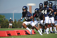 Denzel Nkemdiche (4) runs through a drill as began football practice in Oxford, Miss. on Saturday, August 4, 2012.