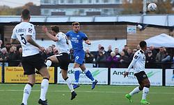 Matt Godden of Peterborough United heads the ball goalwards - Mandatory by-line: Joe Dent/JMP - 10/11/2018 - FOOTBALL - Hayes Lane - Bromley, England - Bromley v Peterborough United - Emirates FA Cup first round proper