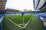 A general view inside Stamford Bridge Stadium during the Premier League match between Chelsea and West Ham United at Stamford Bridge, London, England on 8 April 2019.