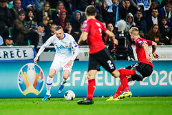 ILICIC Josip of Slovenia during the 2020 UEFA European Championships group G qualifying match between Slovenia and Austria at SRC Stozice on October 13, 2019 in Ljubljana, Slovenia. Photo by Peter Podobnik / Sportida