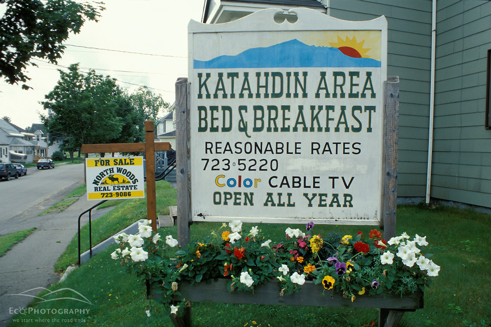 Millinocket, ME. Northern Forest. Tourism. A bed and breakfast.