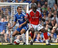 Photo: Ed Godden.<br />Chelsea v Charlton Athletic. The Barclays Premiership. 09/09/2006. Andriy Shevchenko (L) is held off the ball by Charlton's Souleymane Diawara.