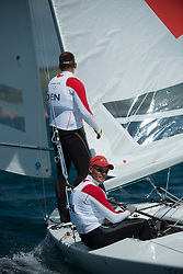 2012 Olympic Games London / Weymouth<br /> <br /> Star practice race<br /> StarDENHESTBAEK Michael, Olesen Claus