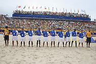 Footbal-FIFA Beach Soccer World Cup 2006 -  Oficial Games BRA x POL - Brazil team , Brazil - 03/11/2006.<br />Mandatory Credit: FIFA/Ricardo Ayres