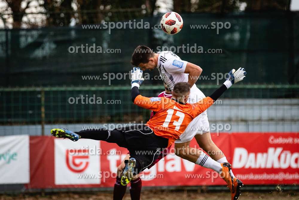 Jalen Arko of NK Triglav Kranj during football match between NŠ Mura and NK Triglav in 19th Round of Prva liga Telekom Slovenije 2018/19, on December 9, 2018 in Fazanerija, Murska Sobota, Slovenia. Photo by Blaž Weindorfer / Sportida