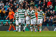 Celtic FC Midfielder Kris Commons celebrates the third goal during the Ladbrokes Scottish Premiership match between Celtic and Dundee United at Celtic Park, Glasgow, Scotland on 25 October 2015. Photo by Craig McAllister.