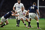 Twickenham, Great Britain, Antong Watson on the attack, during the Six Nations Rugby England vs Scotland, played at the RFU Stadium, Twickenham, ENGLAND. Saturday 14/03/2015<br /> <br /> [Mandatory Credit; Peter Spurrier/Intersport-images]
