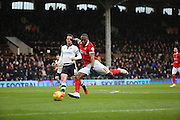 Charlton Athletic midfielder, Callum Harriott (11) with a chance during the Sky Bet Championship match between Fulham and Charlton Athletic at Craven Cottage, London, England on 20 February 2016. Photo by Matthew Redman.