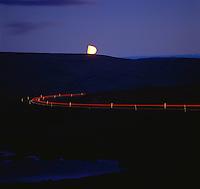 Driving the mountain road over Halfdan between Tálknafjörður and Bíldudalur in moonlight. Ekið í tunglsljósi á leið yfir Hálfdan milli Tálknafjarðar og Bíldudals.&#xA;<br />