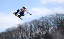Japan's Reira Iwabuchi in the Ladies' Slopestyle Snowboard Final during day three of the PyeongChang 2018 Winter Olympic Games in South Korea.