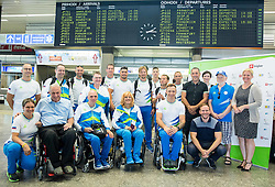 Departure of Slovenian Paralympic Team to Paralympic Games Rio 2016, on August 31, 2016, in Airport Joze Pucnik, Brnik, Slovenia. Photo by Vid Ponikvar / Sportida