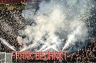18-12-2016: Voetbal: Ajax v PSV: Amsterdam<br /> <br /> (L-R) Frank de Boer neemt afscheid in de Arena en wordt bedankt door de F-side tijdens het Eredivisie duel tussen Ajax en PSV op 18 december in De Arena tijdens speelronde 17<br /> <br /> Eredivisie - Seizoen 2016 / 2017<br /> <br /> Foto: Gertjan Kooij