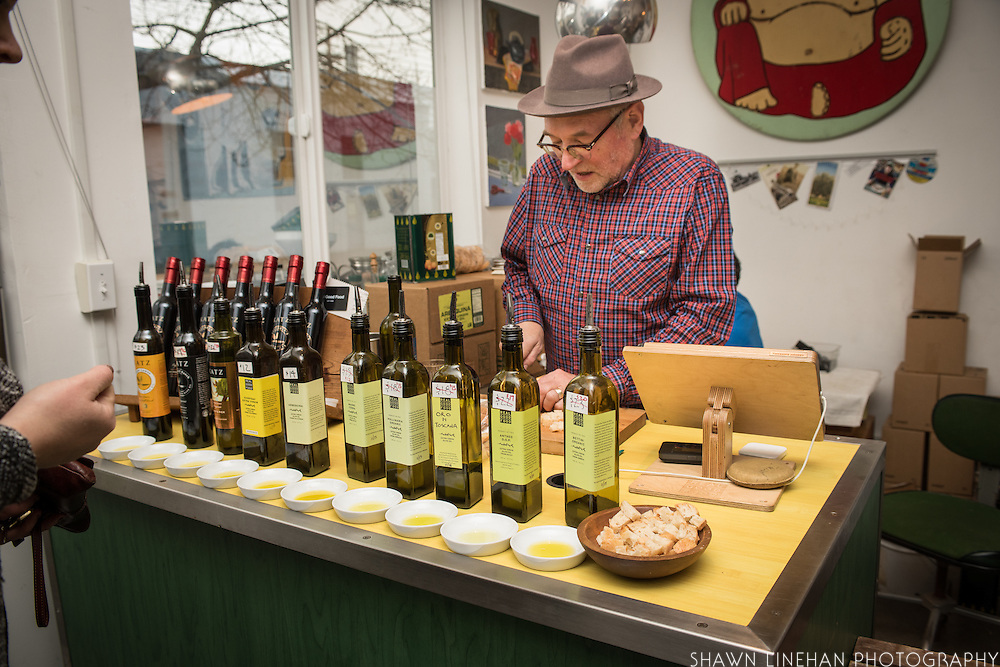 Jim Dixon, owner of Real Good Food, a small import shop in Portland, Oregon of Italian olive oils and specialty foods from Louisianna.